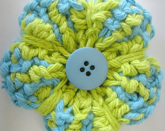 KNITTING PATTERN PDF - Knit flower pattern - Flower pattern - Knitting Flower - Splash of Colour Knit Flower