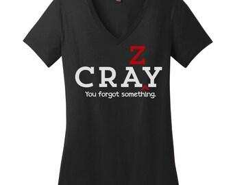 Grammar V Neck Tee Cray Shirt Womens Shirt Editor Shirt Women English Teacher Shirt Teacher Gifts Crazy Cray Is NOT a Real Word Bad Grammar