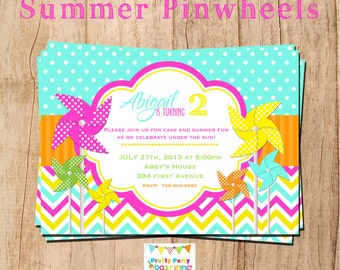 SUMMER PINWHEEL invitation - YOU Print