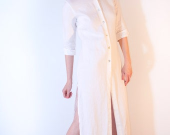 WHITE w/BUTTONS TUNIC