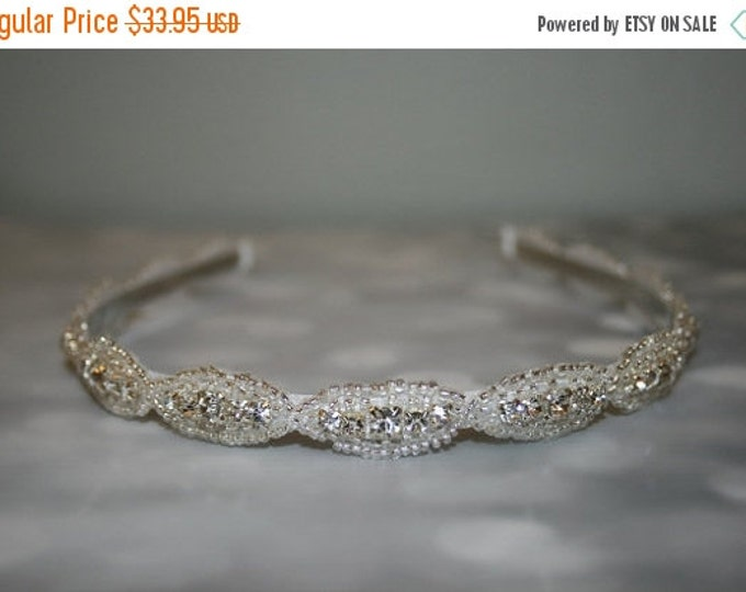 Wedding Hair Accessory, Rhinestone Headband, Bridal Headband, Bridal Accessories, Wedding, DAKOTA