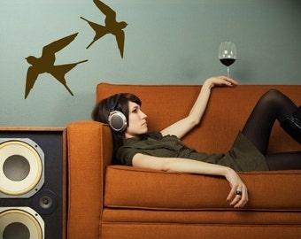 flying barn swallows vinyl wall decal