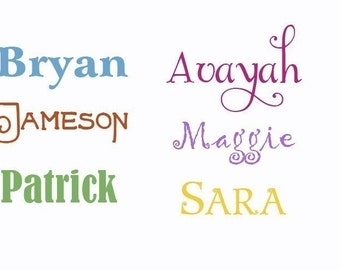 Toy box Name Wall Decal for boys and girls Custom vinyl wall accent art for kids Personalized Baby monogrammed gift