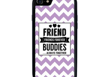 iPhone 5 5s 5c 6 6s 6+ 6s+ SE 7 7+ 8 8+ X Galaxy S7 S8 S8+ Phone Case, Chevron, Friends Forever, Friendship, Edge, Plus