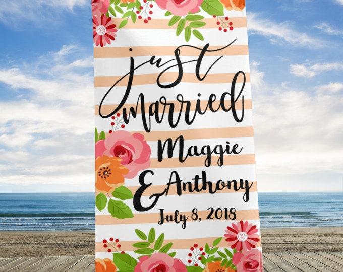 Beach Towel-Wedding Beach Towels -Custom Beach Towel -Bride Beach Towel, beach towels, personalized towel, personalized beach, beach blanket