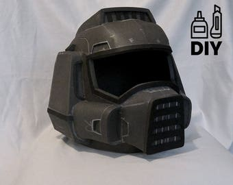 DIY DOOM guy helmet template for EVA foam