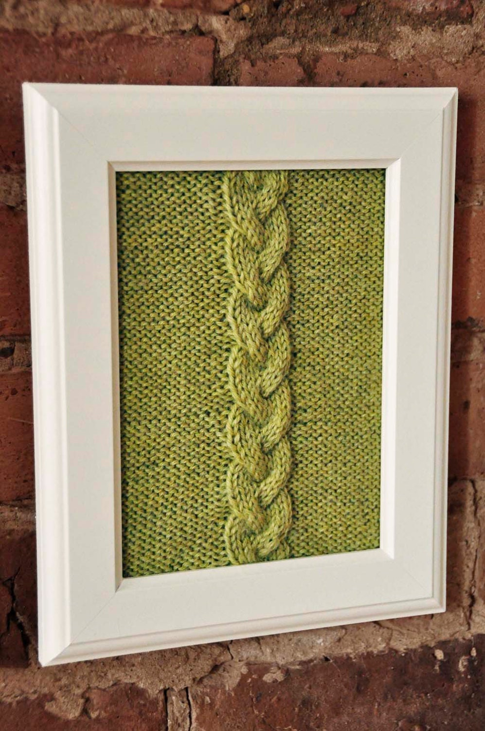 Cable Panels Knitted Wall Art KNITTING PATTERN INSTRUCTIONS Framed ...