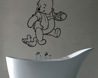 Winnie The Pooh Wall Art Decal Vinyl Sticker Disney Movies Decorations for Home Bathroom Boys Girls Room Nursery Baby Shower Decor wtpo11