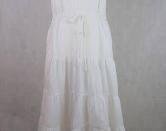 Plus size Sleeveless White dress, vintage clothing, vintage, clothing, women's clothing, dresses for women, plus size vintage