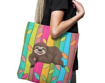 Sloth Tote Bag, Canvas Bag, Shopping Bag 18x18