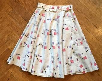 Vintage 50s novelty full circle skirt