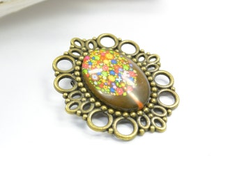 Brooch Tree Glass Metall