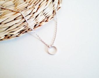Karma necklace, tiny necklace, dainty circle necklace, gold circle necklace, minimalist necklace silver necklace,