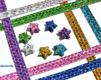 112 strips DIY Origami Star Paper For Folding Medium Size Lucky Stars. 24.5x1.2cm. (HL paper series). #HL71C.