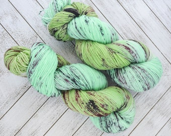 The Coven's Coquette - Hand Dyed Sock Yarn Heavy Fingering Weight 100g Skein 462yds PlumpleBee Base 75/25 Superwash Merino/Nylon