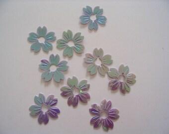 10 sequins sequins flowers lilac