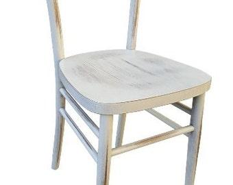 Sgabello in legno da verniciare con seduta tonda h cm da