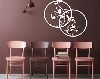 Wall Decal Vinyl Sticker Bedroom Nursery decor circles flowers beautiful bo3328