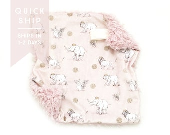 Lovey Blush Royal Parade. Lovey. Elephant Lovey. Bear Lovey. Mini Baby Blanket. Security Blanket. Lovie. Minky Lovey. Quick Ship.