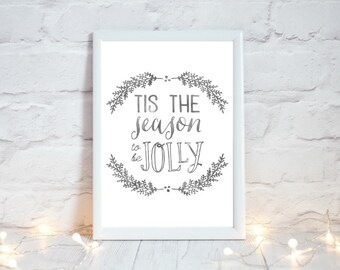 Farmhouse Christmas Decor, Christmas Printable Art,  Festive Home Decor, Winter Holiday Sign, Holiday Decor, Xmas Decor, Instant Download