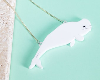 Whale Necklace - Beluga Necklace - Whale Jewellery - Beluga Whale Necklace - Beluga Gift - Whale Gift - Whale Jewelry - Animal Necklace