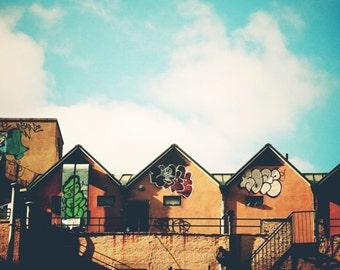 New York City Graffiti Photograph - Down Town Manhattan - NYC Apartment - Graffiti Art - New York City Art - New York Cityscape