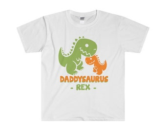 Daddysaurus Rex MenS Fitted Short Sleeve Tee Shirt