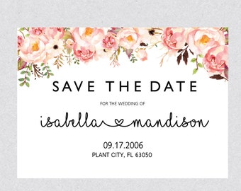 printable save the date card rustic save the date card