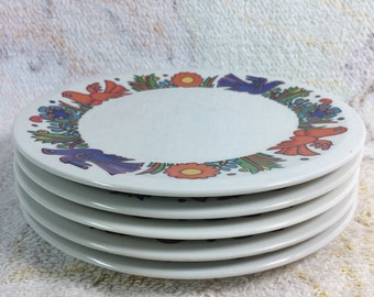 """Acapulco Villeroy and Boch Bread Plates - Set of 5 Beautiful Small hors d'oeuvre Plates 6"""""""