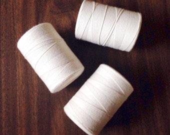 Cotton Warp for Woven Wall Hangings, Warp for Tapestry Weaving, Warp Cone, Natural Cotton Warp, Weaving Tools, Weaving Loom Warp