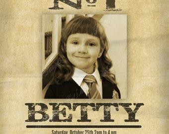 Harry Potter Birthday Invitation Printable/Customized Birthday Invitation