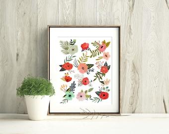 Flower Collage Print
