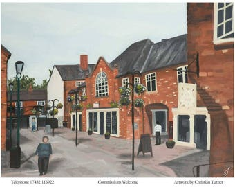 Cocoa Yard, Nantwich - original oil painting on linen canvas by Christian Turner