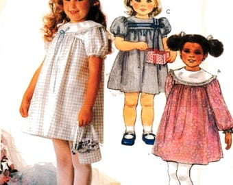 McCalls 2367 Girl's Dress Purse Vintage Pattern, Easter or Birthday Dress Szs 4- 5-6 Uncut Sewing Pattern