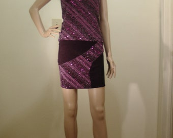 Pencil skirt in Slinky and Sparkle fabric.  Easy Care.