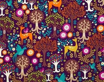 Michael Miller Norwegian Woods Fantasy Forest - Woodland Fabric - Half Yard