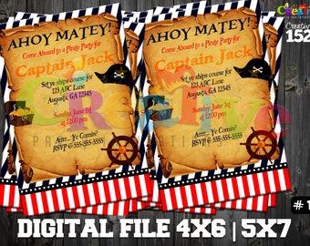 Pirate Invitation | Pirate Party Invitation | Custom Party Invitation | Pirate | Pirate Party | Printable Invitation
