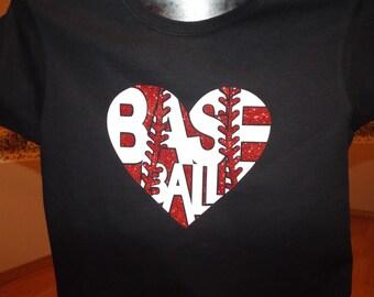Baseball heart t-shirt