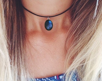 Labradorite Choker Necklace | Boho Jewelry