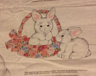 Easter bunny basket fabric panel cut and sew stuff