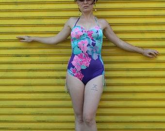 One Piece Floral Swim Suit