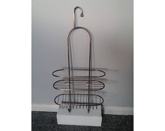 Rustic Bronze Wall Hanging Storage Rack, Kitchen Hanging Wire Basket, Metal Bathroom  Hanging Storage