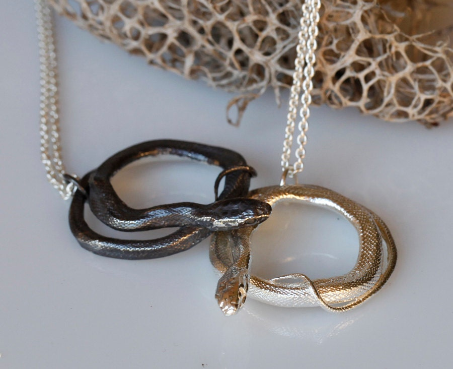 Snake jewelry coiled snake pendant sterling silver serpent zoom mozeypictures Image collections