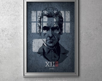 XII - Doctor Who - Peter Capaldi as The Twelfth Doctor - I'm The Doctor Series - Original Art Poster