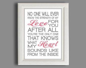 Nursery Art Print - Nursery Decor - Any Color - Nursery Typography  Print