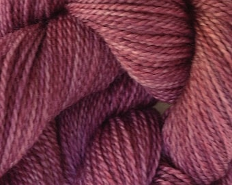 Merino Wool Yarn Lace Weight in Plum Pie Hand Painted Pink