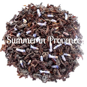 Lavender Vanilla Tea, Organic, Floral French Blend, Afternoon Tea, Friendship, SUMMER IN PROVENCE, Loose Leaf, French Pastries, Hand Blended