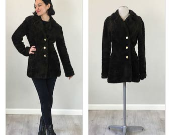 Mod 60s revived faux fur jacket  SMALL