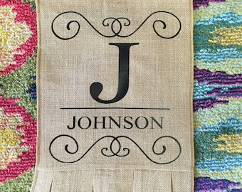 Garden Flag| Personalized Ruffled Burlap Garden Flag| Burlap| yard Decor| home decor| Personalize