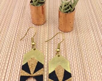 Arrow Cork suede jewelry earrings geometric NOVA
